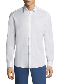 Ferragamo Cotton Button-Front Shirt