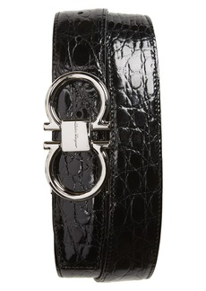 Salvatore Ferragamo Crocodile Leather Belt