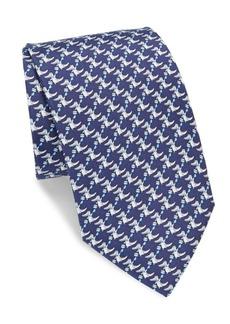 Ferragamo Crocodile Silk Tie