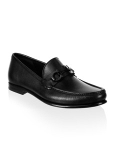 Ferragamo Crown Gancini Bit Leather Loafers