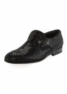 Ferragamo Men's Crystal-Studded Formal Loafer
