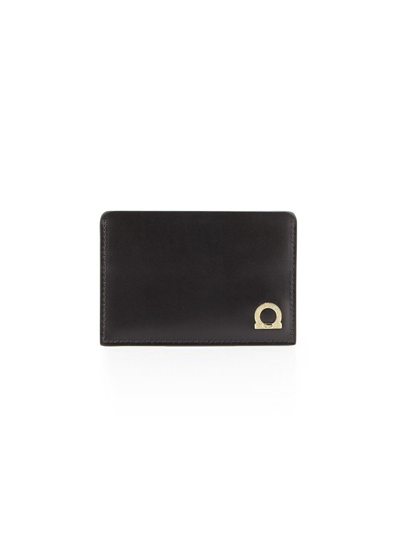 pretty nice a2efe 12bce Salvatore Doppio Gancio Leather Card Case