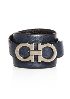 Salvatore Ferragamo Double Gancini Buckle Reversible Leather Belt