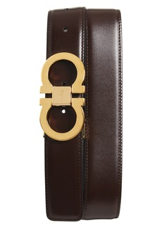 Salvatore Ferragamo Double Gancini Leather Belt
