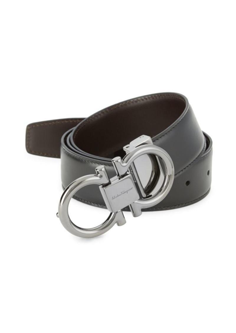 Ferragamo Reversible Gancini Buckle Belt