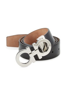 Ferragamo Adjustable Gancini Buckle Belt