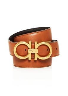 Salvatore Ferragamo Men's Double Gancini Reversible Leather Belt