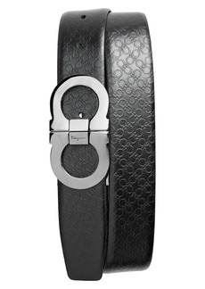Salvatore Ferragamo Double Gancio Embossed Belt