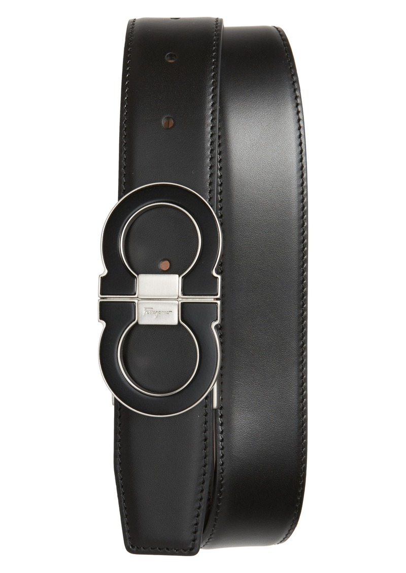 Salvatore Ferragamo Double Gancio Leather Belt