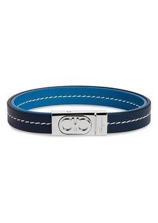 Salvatore Ferragamo Double Gancio Leather Bracelet
