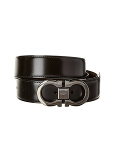 Salvatore Ferragamo Double Gancio Reversible & Adjustable Leather Belt