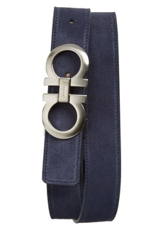 Salvatore Ferragamo Double Gancio Suede Belt