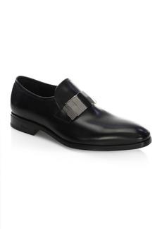 Ferragamo Drake Nero Leather Loafers