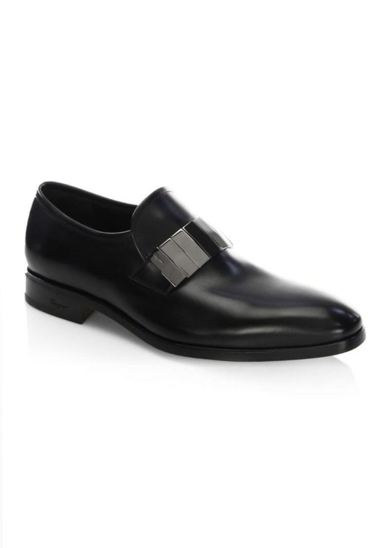 Drake Nero Leather Loafers. Ferragamo