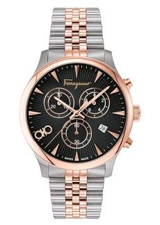 Salvatore Ferragamo Duo Chronograph Two-Tone Bracelet Watch; 42mm