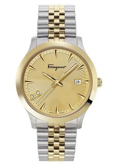 Salvatore Ferragamo Duo Diamond Bracelet Watch, 40mm