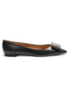 Salvatore Ferragamo Edina point-toe leather flats