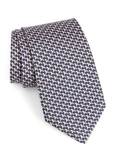 Salvatore Ferragamo Edwin Print Silk Tie