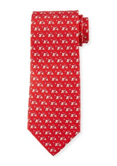Ferragamo Elephant Golf Silk Tie