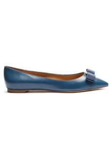 Salvatore Ferragamo Emy point-toe leather flats