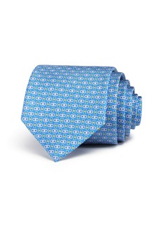Salvatore Ferragamo Enne Mini Linked-Gancini Silk Classic Tie