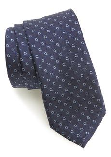 Salvatore Ferragamo Erice Print Silk Tie