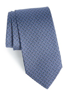 Salvatore Ferragamo Eroe Geo Print Silk Tie
