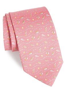 Salvatore Ferragamo Evento Print Silk Tie