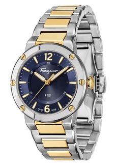 Salvatore Ferragamo F-80 Bracelet Watch, 34mm