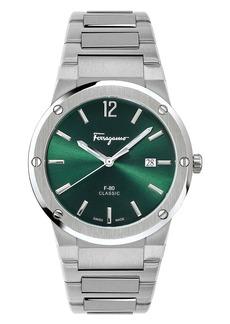 Salvatore Ferragamo F-80 Classic Bracelet Watch, 41mm