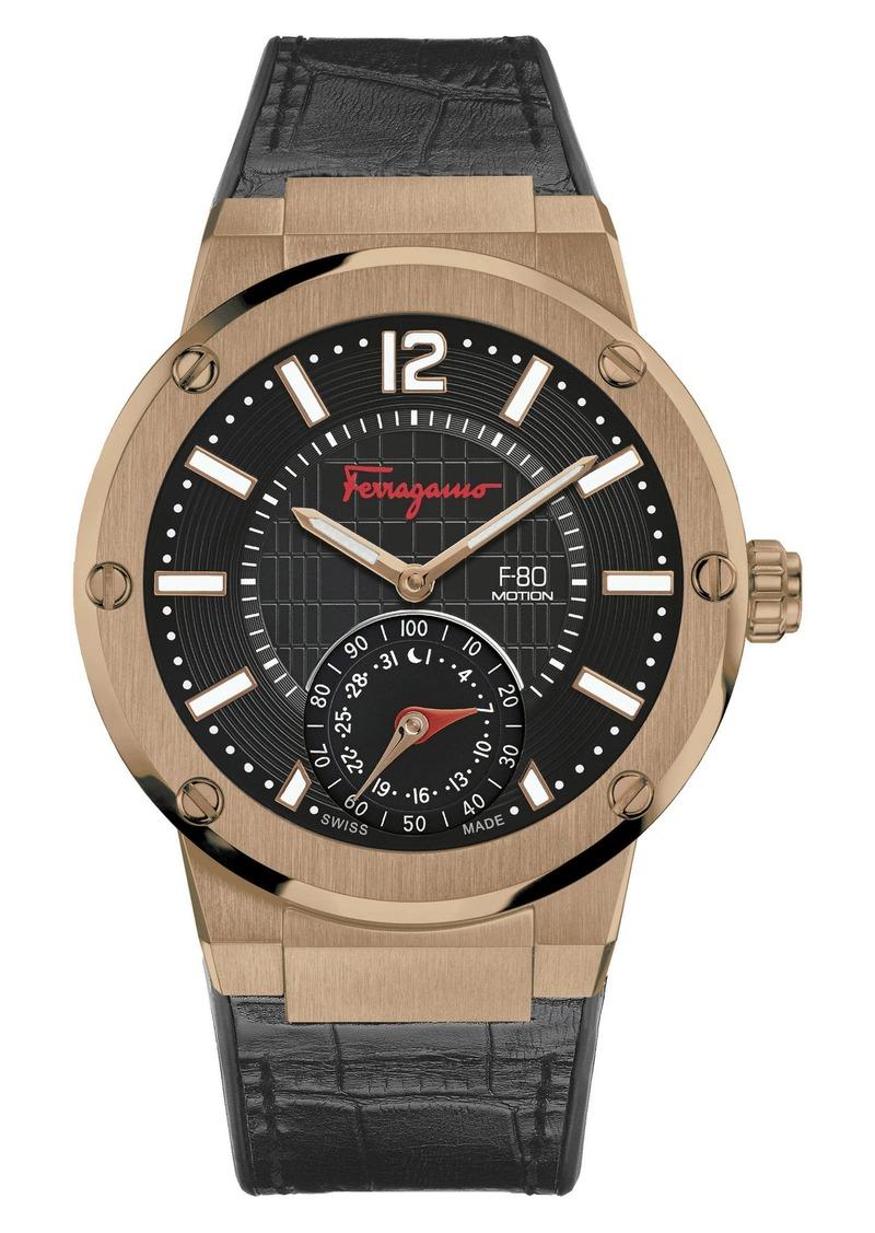 07e735e0d9e Ferragamo Salvatore Ferragamo 'F-80 Motion' Leather Strap Smart ...