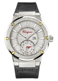 f72b37725c Salvatore Ferragamo  F-80 Motion  Leather Strap Smart Watch