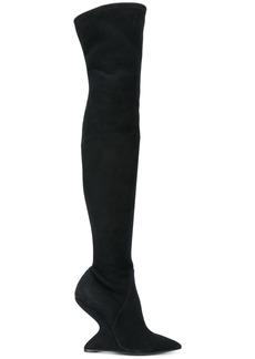 Salvatore Ferragamo F wedge high boots - Black