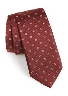 Salvatore Ferragamo Fabrian Print Silk Tie