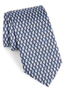 Salvatore Ferragamo Felce Print Silk Tie