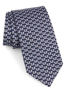 Salvatore Ferragamo Fido Print Silk Tie