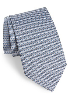 Salvatore Ferragamo Fina Print Silk Tie