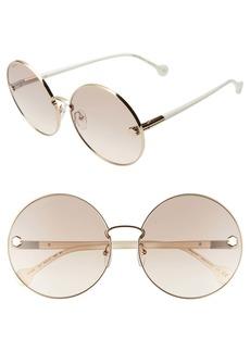 Salvatore Ferragamo Fiore 63mm Oversize Gradient Round Sunglasses