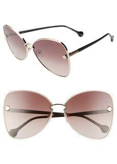 Salvatore Ferragamo Fiore 64mm Oversize Gradient Butterfly Sunglasses