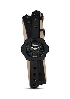 Salvatore Ferragamo Fiore Black Watch, 24mm