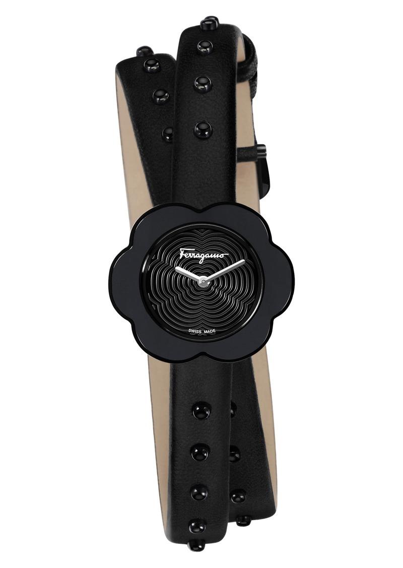 9fb8772ef0a Ferragamo Salvatore Ferragamo Fiore Leather Strap Watch, 24mm   Jewelry