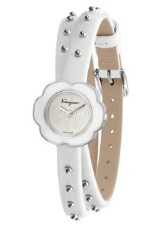 Salvatore Ferragamo Fiore Leather Strap Watch, 24mm