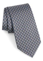 Salvatore Ferragamo Fiore Print Silk Tie