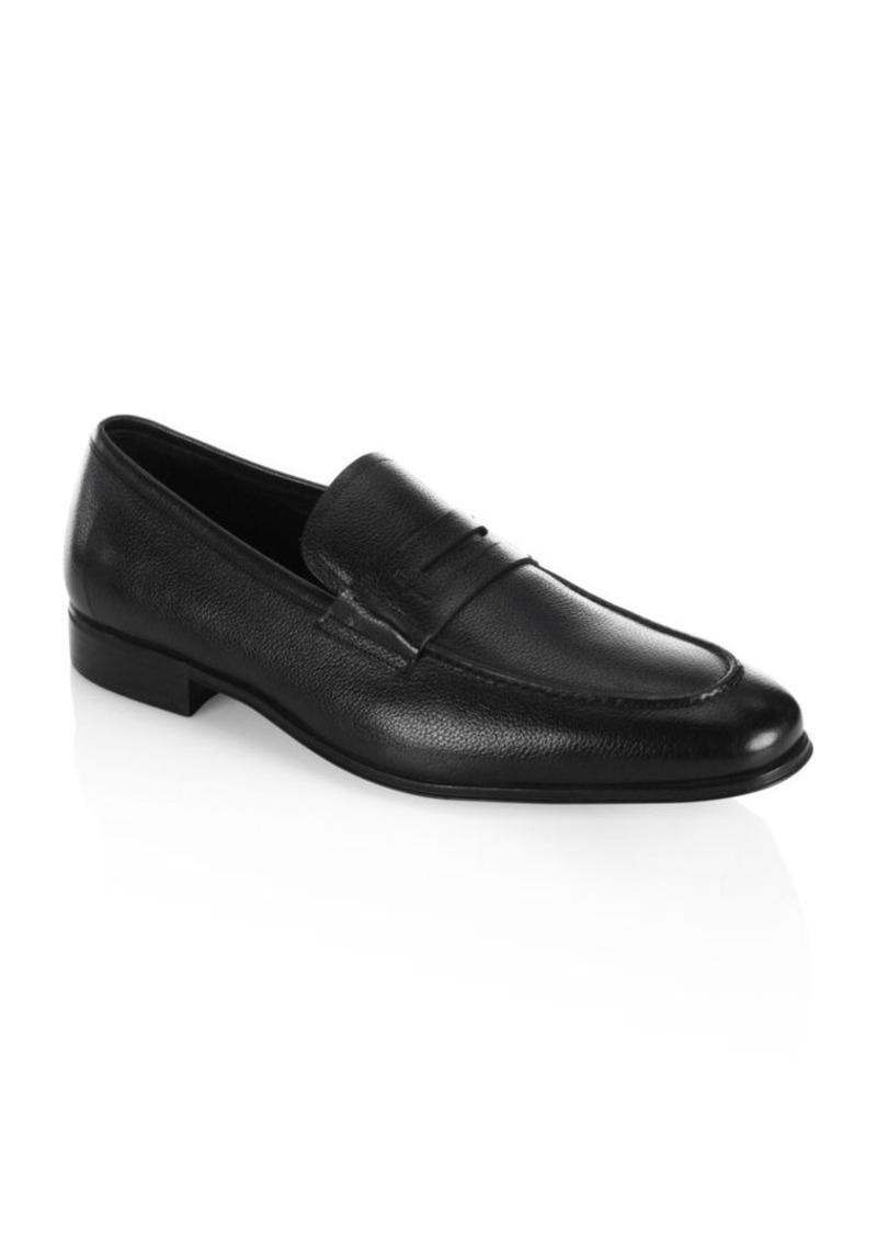 61ec833e2dc Ferragamo Fiorino 2 Textured Leather Penny Loafers