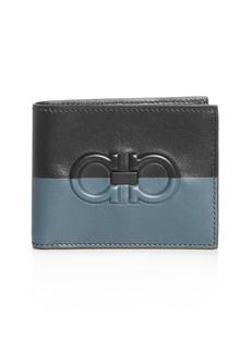 Salvatore Ferragamo Firenze Color-Block Leather Bi-Fold Wallet