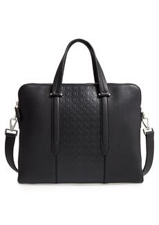 Salvatore Ferragamo Firenze Double Gusset Leather Briefcase