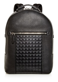 Salvatore Ferragamo Firenze Gamma Embossed Leather Backpack