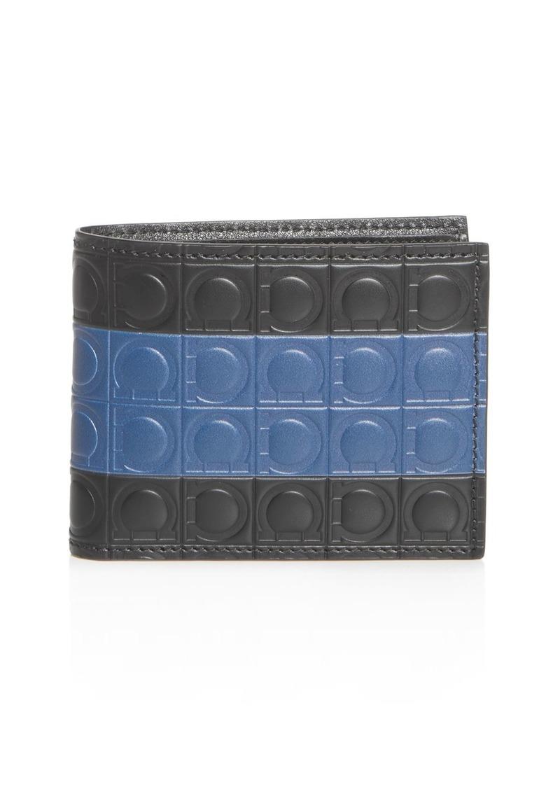 Salvatore Ferragamo Firenze Gamma Stripe Leather Bi-Fold Wallet