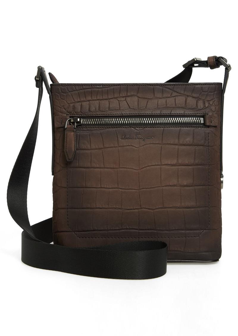 SALE! Ferragamo Salvatore Ferragamo Firenze Leather Crossbody Bag 9e56cbb578d79