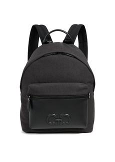 Salvatore Ferragamo Firenze Logo Nylon Backpack